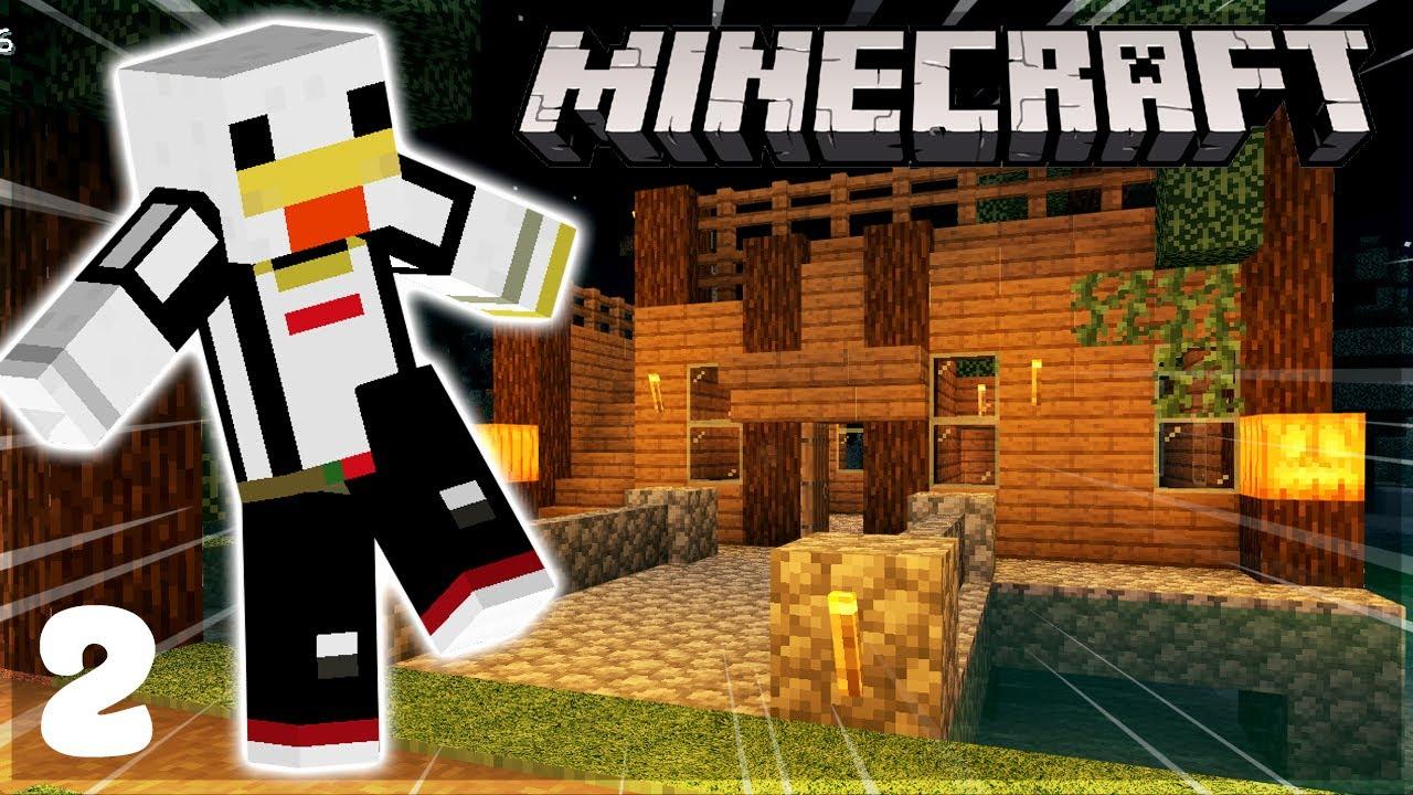 Minecraft Sinh tồn #2 - AN CƯ LẠC NGHIỆP với NGÔI NHÀ TRÊN HỒ.