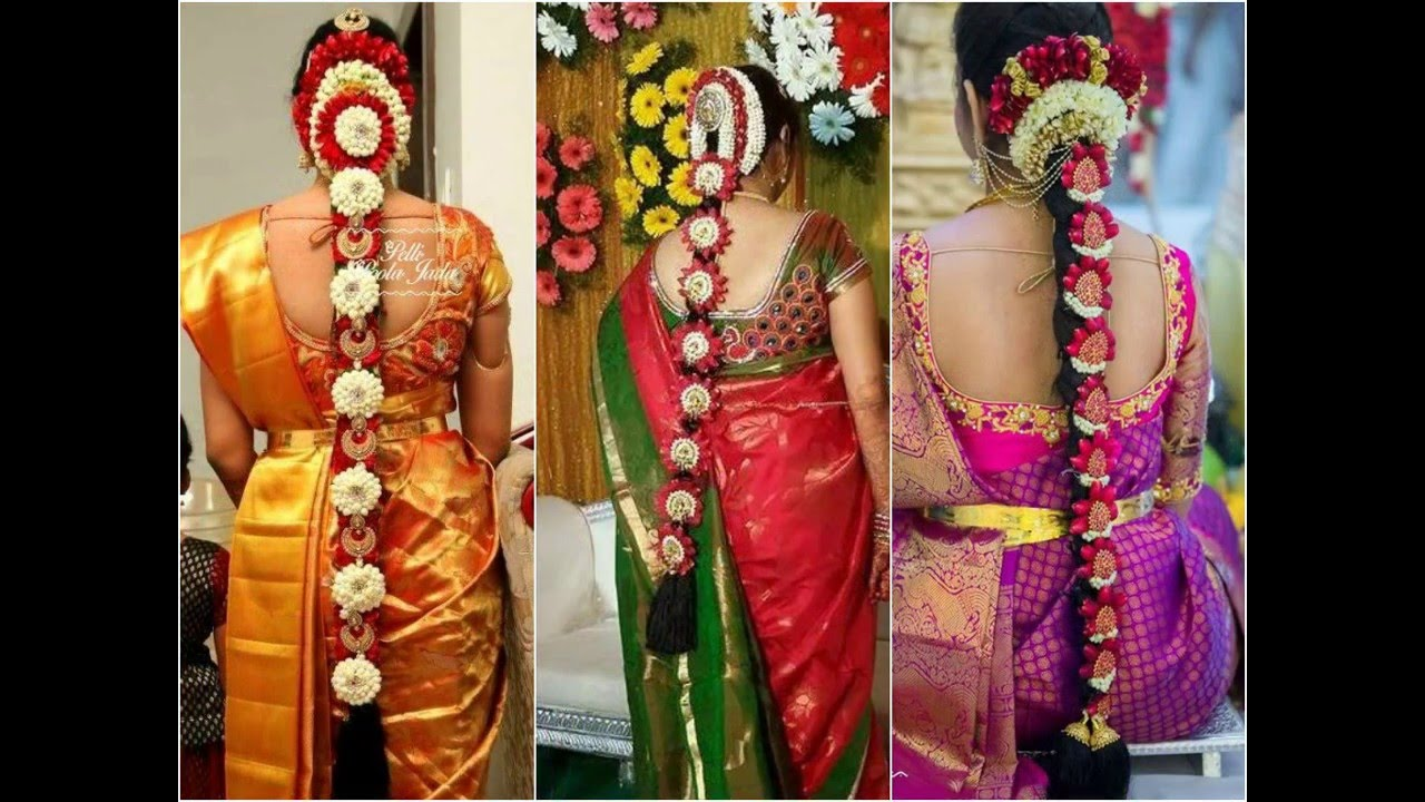 poola jadalu - south indian bridal hairstyles