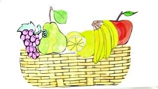 Видео для детей. Поделки своими руками: Аппликация КОРЗИНКА ФРУКТОВ(Сейчас самое время фруктов! Поэтому сегодня вместе с Машей мы сделаем КОРЗИНКУ ФРУКТОВ. У нас уже есть вырез..., 2015-07-29T05:15:56.000Z)