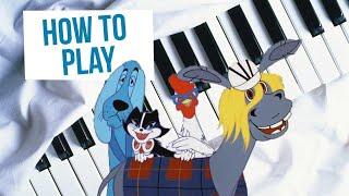 Как сыграть песню из мультфильма Бременские музыканты на фортепиано (видео-урок)