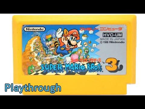 [ゲーム動画] スーパーマリオブラザーズ3 OP~ED (1988年 ファミコン) 【NES Longplay Super Mario Bros. 3 (Full Games)】