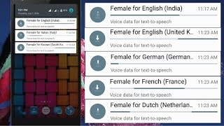 """How to disable auto downloaded """"Female for English (India)"""" notification in Android?"""