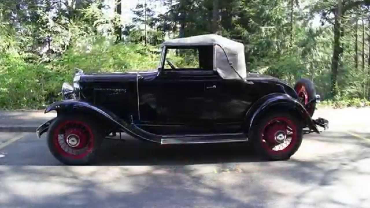 Sedan 1931 chevrolet sedan for sale : 1931 Chevrolet AE Cabriolet For Sale - YouTube