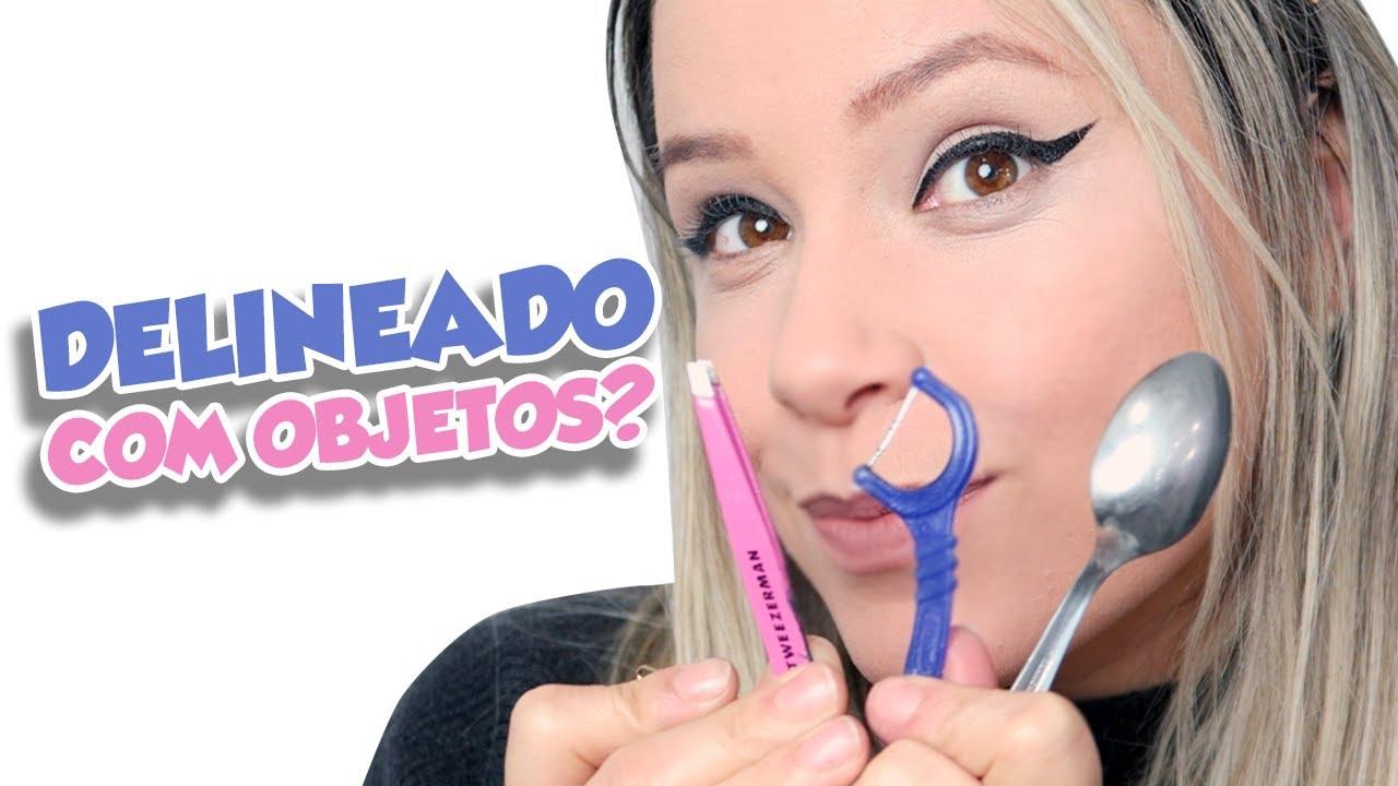 23974832d TESTANDO OBJETOS PRA FAZER DELINEADO GATINHO - YouTube