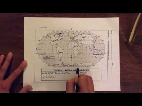 Absolute Location - Latitude And Longitudes Demonstration