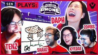 Daph CAN'T Teach Tнe Sentinels How To DRAW (Gartic Phone)