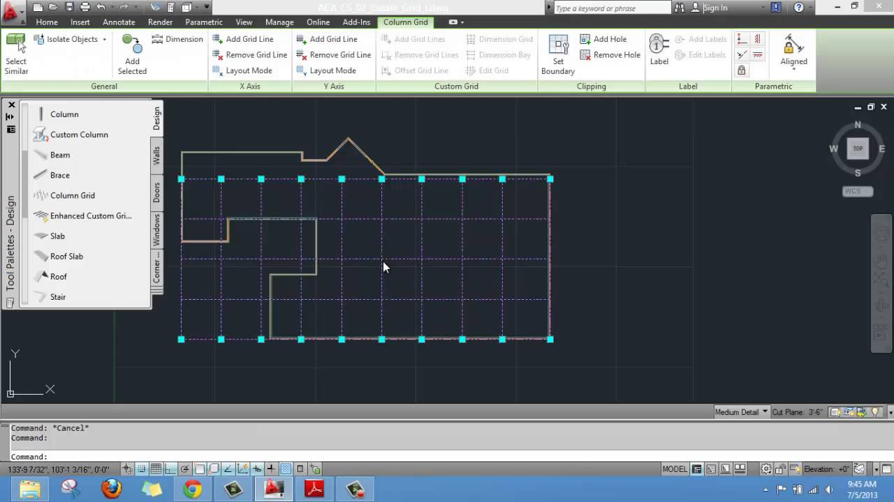 Drawing Lines In Draftsight : Creating a layout grid on autocad architecture youtube