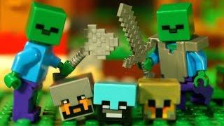 ФИНАЛ !!! Мультфильм Майнкрафт 12-я серия Лего Мультики - Lego Minecraft Stop Motion Animation