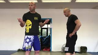 Defending vs Elbows with Amnon Darsa at Expert Camp, Institute Krav Maga Netherlands.