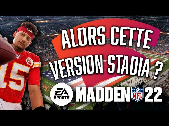 MADDEN NFL 22 | Découverte de la version Stadia !