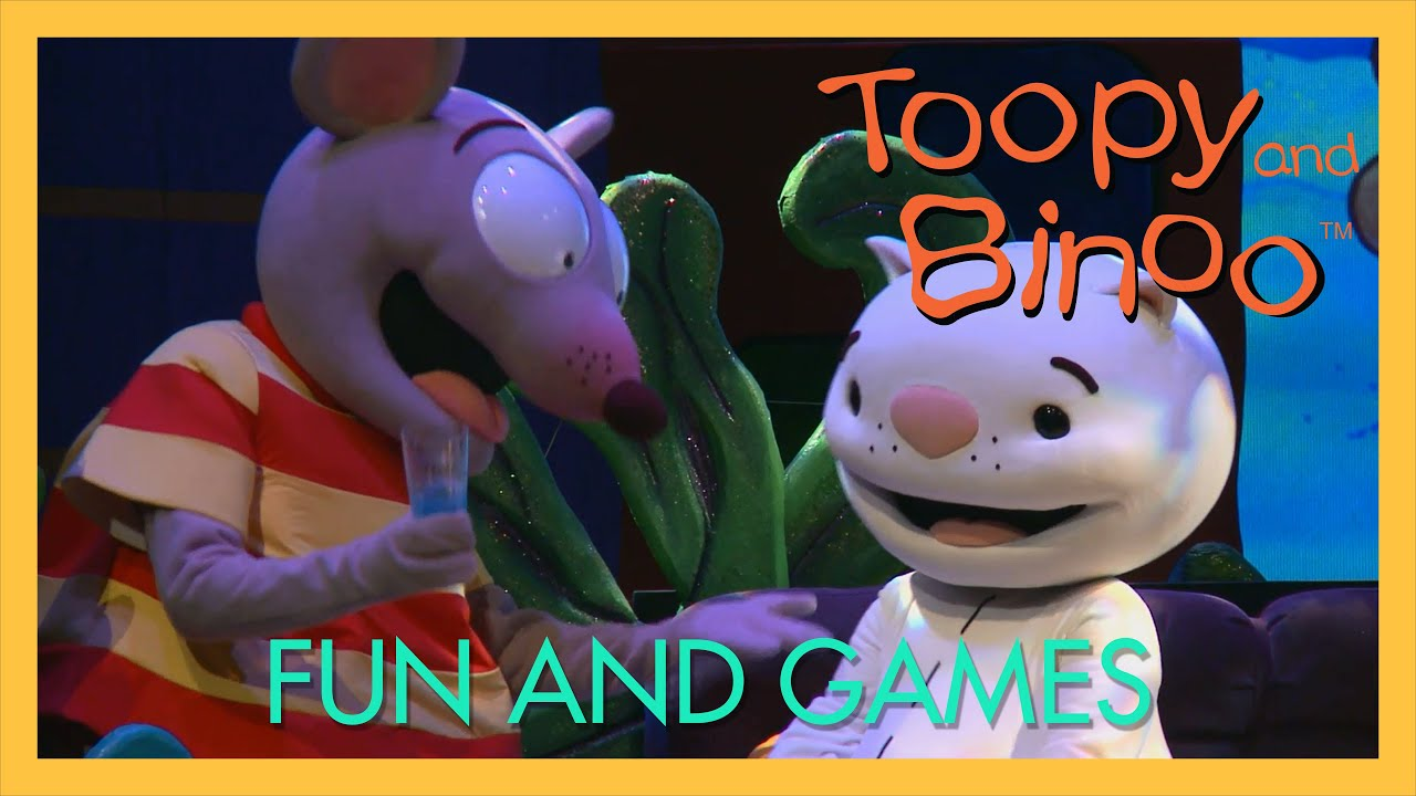 toopy and binoo live 2016 fun and games youtube