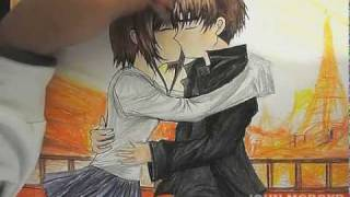 Anime Kiss - DRAWING [By John MCBoyd]