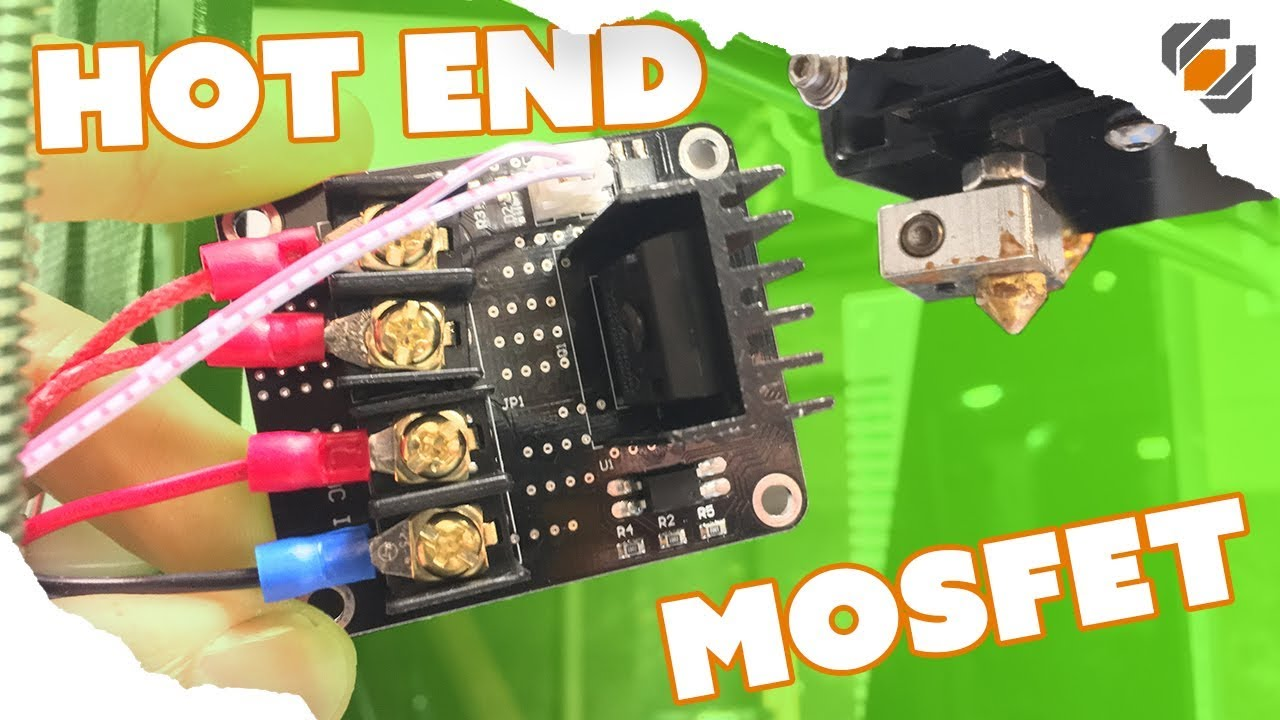how to add a mosfet to the hot end of the anet a8 tutorial [ 1280 x 720 Pixel ]
