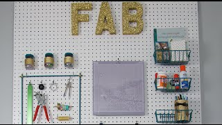 Pegboard Craft Storage