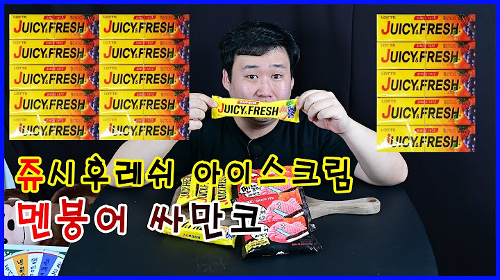 [먹방]EP.24최초방송!!쥬시후레쉬가이젠아이스크림으로나왔네??Juicy Fresh is now served as an ice cream? First broadcast!