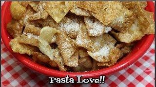 Homemade Pasta Chips ~ Pasta Chips Recipe ~ Seasoned Pasta Chips ~ Noreen's Kitchen