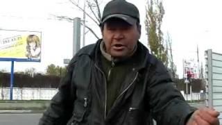 Бомж агитирует за Путина!