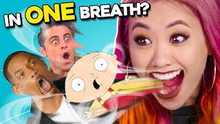 The SAY IN ONE BREATH Challenge (Walking Dead, Family Guy, Supernatural) | InONE