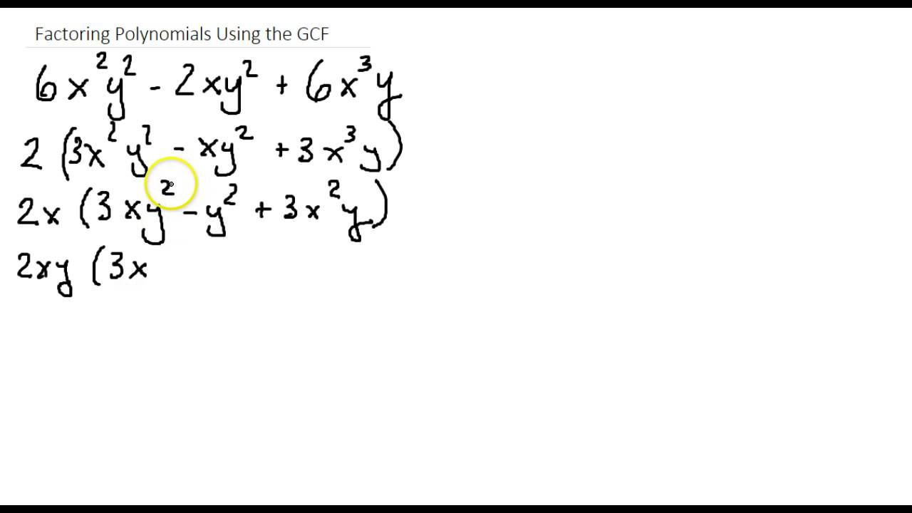 Factoring Polynomials Using GCF and Grouping - YouTube