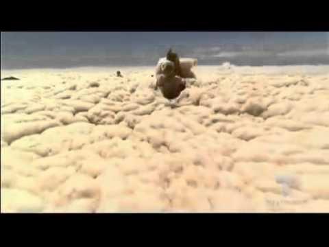 amazing sea foam in australian beach