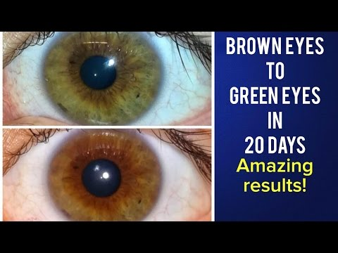 Brown Eyes to Green Eyes in 20 days Using Quadible Integrity