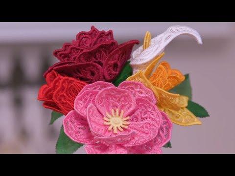 3D Freestanding Lace Flowers