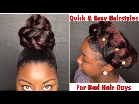 2 Quick and Easy Hairstyles For Bad Hair Days