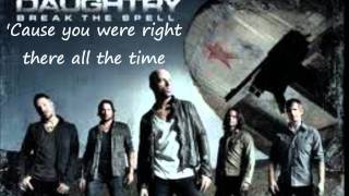 Everything But Me Lyrics- Daughtry