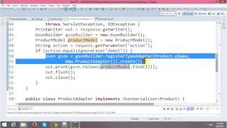 Parsing JSON Object with Ajax in JSP-Servlet and Hibernate