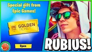 * NEW * Fortnite X Rubius!! Golden Ticket UNLOCKEN!!