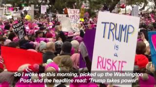 Michael Moore, Ashley Judd address Women's March in Washington