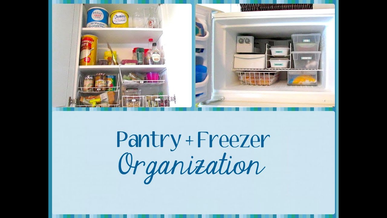 Pantry + Freezer Organization (simple & cheap!) - YouTube