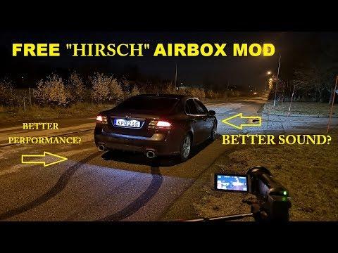 SAAB 9-3 HIRSCH AIRBOX MOD. FREE! DIY!