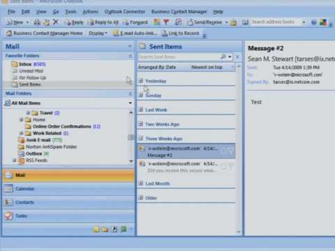 Adding Digital Signatures to Email - YouTube