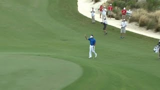 Bubba Watson cards chip-in eagle at Hero World Challenge
