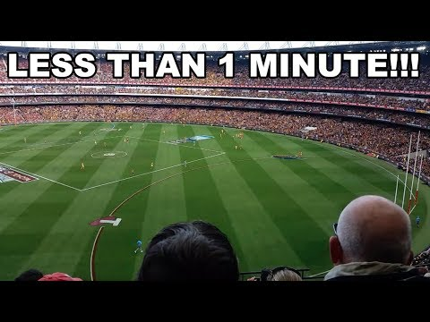 AFL 2017 GRAND FINAL RICHMOND TIGERS - LESS THAN 1 MINUTE BEFORE THE SIREN