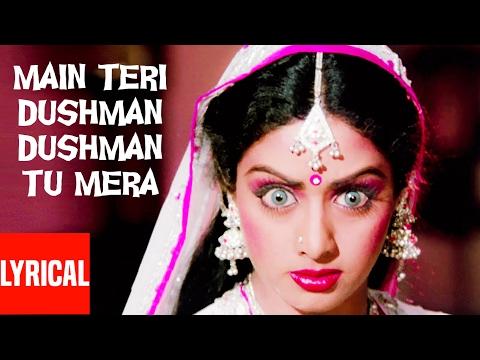 """""""Main Teri Dushman Dushman Tu Mera"""" Lyrical Video   Nagina   Rishi Kapoor, Sridevi"""