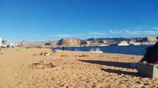 Первый раз ночевал в палатке. Было холодно, но интересно. Место - озеро Powel, горд Page, Arizona