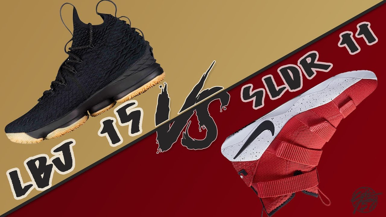 2d7997227095b Lebron 15 vs Lebron Soldier 11! - YouTube
