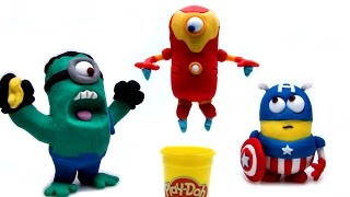 Superhero Minions Stop Motion! Animación de Marvel Avengers Captain America Hulk Iron Man