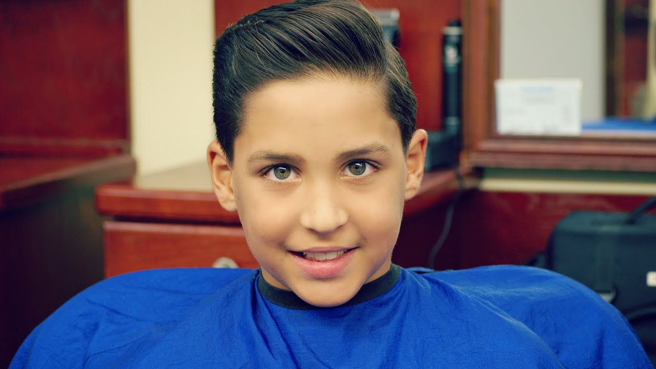 kid's haircut tutorial: how to do a comb over and a fade - youtube