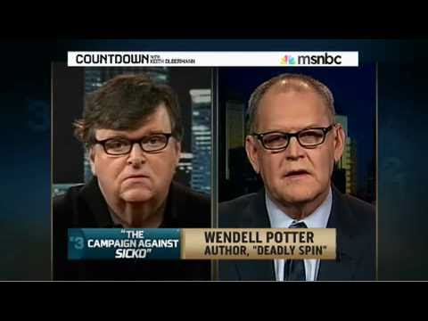 Michael Moore Meets Wendell Potter on Countdown wi...