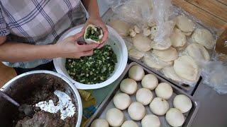 Taiwanese Street Food - Pepper Pork Bun, Clay Oven Scallion Rolls