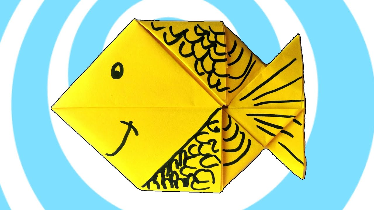 Origami Fish instructions from A4/Letter paper - YouTube - photo#40