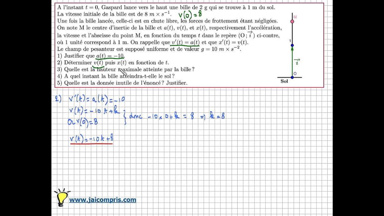 Primitive d'une fonction - Exercice type bac - Primitive ...