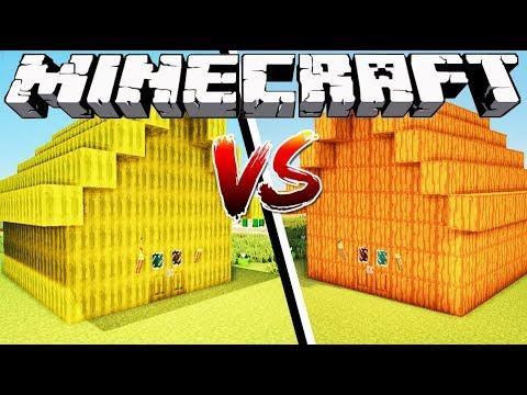 MELON HOUSE VS PUMPKIN HOUSE - Minecraft