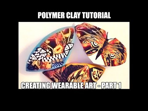 128 Polymer clay tutorial - create wearable art - part 1