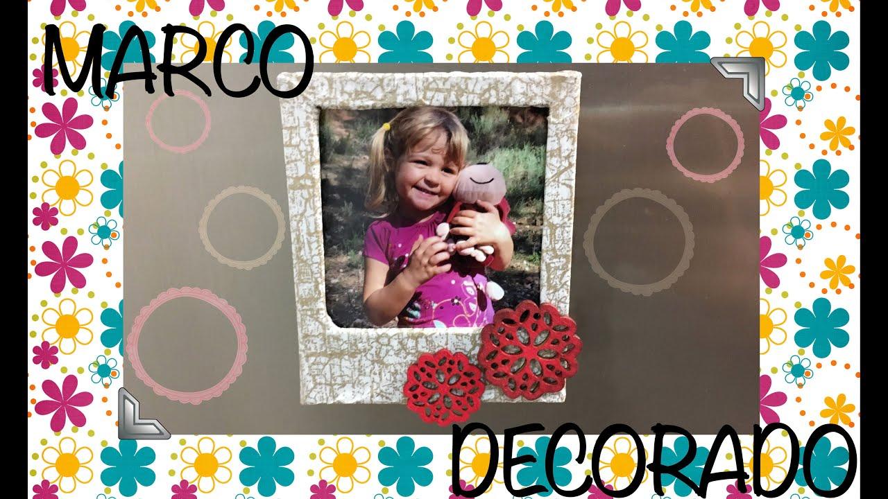 Marco para fotos imantado decorado con decoupage - YouTube