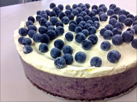 Blueberry Cheesecake No Bake Youtube