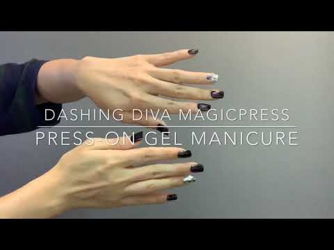 Simple To Use Dashing Diva Magicpress Press-On Gel Manicure Metallic Finish For Parties